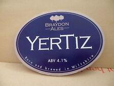 Braydon Ales Yertiz Ale Beer Pump Clip face Pub Bar Collectible 79