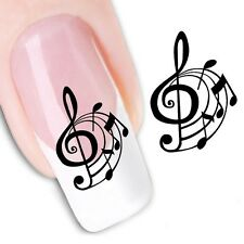 Nail Art Sticker Water Decals Transfer Stickers Decorative Music Notes (DX1358)