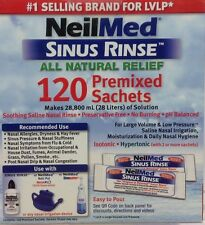 Neilmed Sinus Rinse All Natural Relief 120 Premixed  Refill Sachets