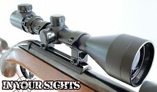 3-9X50 Airgun Riflescope + 11mm Mounts Red/Green reticle. Air rifle scope sight