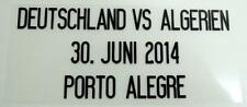 "Match Date of Deutschland vs Algerien ""World Cup 2014"" at Germany Home"