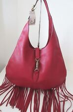NEW Gucci  Leather Cellarious Fringe Jackie Hobo Bag NEW
