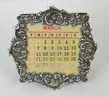Beautiful Sterling Silver Antique Calendar