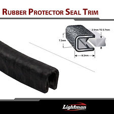Black RUBBER SEAL GRIPPING EDGE TRIM LOCK Molding Flexible Per Foot #02