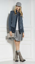 Marc Cain Sports Womens Designer Collarless Lined Jacket Size 14 BNWT RRP €349