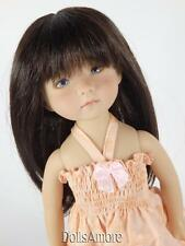 """BEAUTIFUL DARK BROWN DOLL WIG SIZE 8/9"""" FITS VINTAGE AND MODERN DOLLS"""