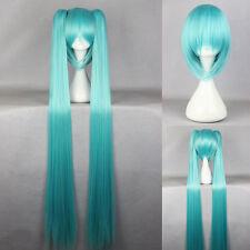 Ladieshair Cosplay Wig Perücke türkis 130cm glatt Vocaloid Hatsune Miku F7T