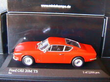 FORD OSI 20M TS 1967 RED MINICHAMPS 400087021 1/43 ROT ROSSO ROUGE USA CAR MODEL