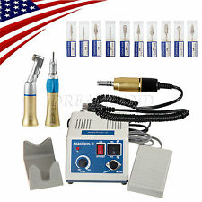 US!Dental Lab MARATHON 35K RPM Handpiece Electric Micromotor Polisher +Drill *10