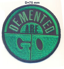 Demented Are Go! legendary psychobilly band logo, embroidered patches var. 4