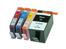 4 HP 920XL Ink Cartridge with Chip for HP Officejet 6000 6500 7000 7500A Printer