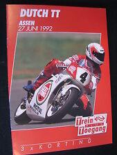 Flyer NS (Nederlandse Spoorwegen) TT Motorraces Assen 27 juni 1992  (TTC)