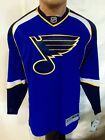 Reebok Premier NHL Jersey St. Louis Blues Team Blue sz L