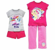 BNWT AGE 7-8 YEARS GIRLS MY LITTLE PONY PYJAMAS- Summer- 2 Pack