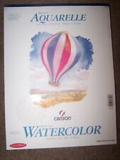 "Aquarelle Canson Watercolor Book Cold Press Acid Free 50 Sheets 9""x12"" 15 sheets"