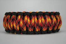 550 Paracord Survival Bracelet King Cobra Black/Red/Fireball Camping Tactical