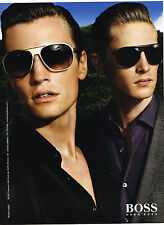 PUBLICITE ADVERTISING 114  2008  HUGO BOSS collection lunettes solaires   021114