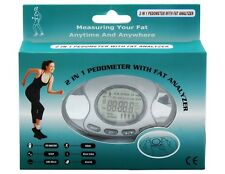 LCD 2 in 1 Digital Pedometer Calorie Counter Body Fat Analyzer Measurement