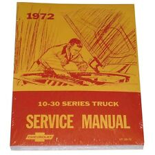 1972 Truck Service Manual Shop Overhaul Guide Book Chevrolet Chevy Pickup 72