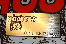 RARE HOOTERS Girl Waitress Uniform BLANK NAME TAG ~SILVER~ Certified Trainer NEW