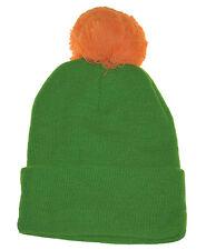 """Pom Pom 13"""" Cuffed Plain Beanie Knit 2 Tone Neon Hat-green orange"""
