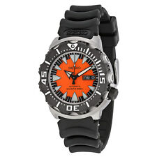 Seiko Divers Automatic Black & Orange Dial Stainless Steel Mens Watch SRP315