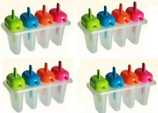 16 x Kitchen Craft Lick n Sip IceLolly Pop Popsicle Moulds Ice Cream Makers Fun