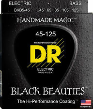 DR BKB5-45 5 string Black Beauties Black Coated Bass Guitar Strings 45-125 MED