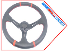 SPORTS STEERING WHEEL 350mm Deep Dish Universal Racing RED/BLK MOMO OMP (19-18)