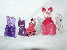 Barbie Clothes FASHIONISTA PRINCESS FASHION DRESSES MIX Lot of 6 #18