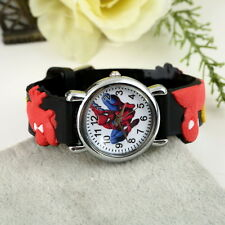 Hot Spider Man Marvel Cartoon Child Boys Kids Analog Quartz Wrist Watch Rubber E