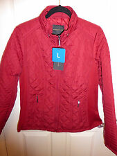 LADIES WEATHERPROOF FULL ZIP PADDED QUILTED JACKET - SCARLETT - SIZE L - BNWT