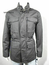 KENNETH COLE New York Twill Cotton Coated Tech Parka Jacket Black size L