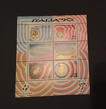 Full Sheet Italia-90 Soccer Commemorative Stamps, Highly Collectible
