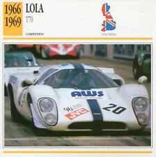1966-1969 LOLA T70 Racing Classic Car Photo/Info Maxi Card