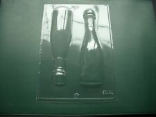 2 on 1 CHAMPAGNE BOTTLE chocolate mould/moulds/celebration/party/3-D/18.3cm high