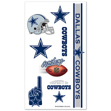 DALLAS COWBOYS TEMPORARY TATTOOS GAME TAILGATE PARTY FACE BODY NFL FOOTBALL