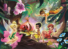 Tinker Bell Fairy Disney Girls Bedroom WALL MURAL PHOTO WALLPAPER