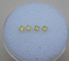 4 Yellow Princess Diamonds 1.8mm each