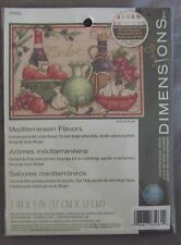 65061 Dimensions Mediterranean Flavors Counted Cross Stitch Kit NEW Complete B10