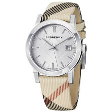 Swiss Made Burberry Women's Check Fabric Band Watch BU9022