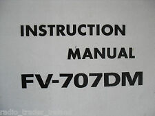 YAESU FV-707DM (GENUINE INSTRUCTION MANUAL ONLY)...........RADIO_TRADER_IRELAND.