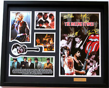 New The Rolling Stones Signed Limited Edition Memorabilia Framed
