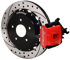 "WILWOOD DISC BRAKE KIT,REAR,00-09 HONDA S2000,13"" DRILLED ROTORS,RED CALIPERS"