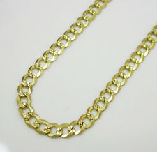 "30"" Inch 3mm 8Grams 10k Yellow Gold Diamond Cut Cuban Ladies Mens Chain Necklace"