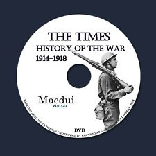 The Times History of the War 1914-1918 WW1 PDF 22 Vintage E-Books 1 DVD World