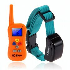 330 Yard Waterproof 100 Level Shock Vibra Remote Collar For Medium/Large Dog