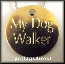 Pet ID Med/Lge (32mm)  Engraved Solid METAL or BRASS  Dog Pet IDENTITY Disc/Tag