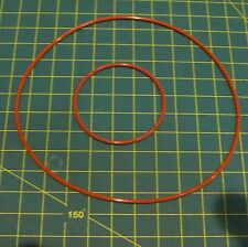 Upgrade Silicon Red/Brown Round Motor & Main Drive Belts for Rega Planar 2  3