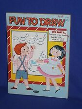 Vintage Fun To Draw Drawing & Coloring Book by Whitman 1962 120 pages